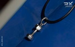 Украшение гантеля. Серебро. Спортивный подарок. #RX_Jewelry