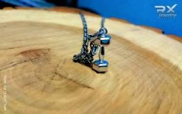 Кулон в виде гантели. Ювелирные аксессуары для спортсменов. #RX_Jewelry