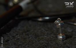 Кулон гантеля шестигранной формы из серебра 925 пробы. Подарочный вариант.  #RX_Jewelry #RXj