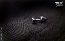 Точные копии спортивных снарядов из серебра. Подвеска кулон гантеля. #RX_Jewelry