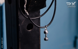 Подвеска  гантеля. Спортивные сувениры.  #RX_Jewelry #RXj