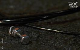 Украшение в виде гантели. Спортивные аксессуары из серебра. #RX_Jewelry