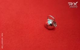 Кулон на шею гиря из серебра на кожаном шнурке. #RX_Jewelry