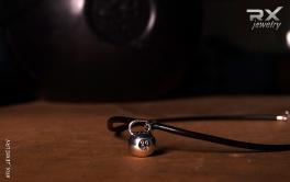 Украшения в виде спортивных снарядов. Кулон гиря. #RX_Jewelry