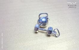 Подарок спортсмену. Кулон из серебра. #RX_Jewelry