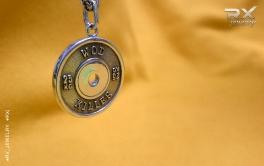Блин от штанги в серебре. Подвеска кулон для спортсменов и атлетов. #RXj #RX_Jewelry