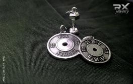 Подвески для функционального тренинга из серебра. Диски от штанги и гантелька. Оригинальные подарки и сувениры для спортсменов. #RXj #RX_Jewelry