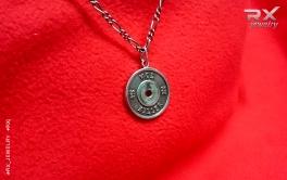 Кулон блин штанги WOD KILLER. Серебро. Родий. #RXj #RX_Jewelry