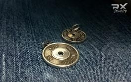 Блины от штанги из серебра. Спортивные кулоны. КросФит символика. #RXj #RX_Jewelry