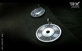 Серебряный Workout of the Day. Диск штанги из серебра с родиевым покрытием. #RXj #RX_Jewelry