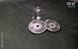 Спортивные ювелирные изделия. Подвески блин WOD, блин 21-15-9 и гантель. Серебро. #RXj #RX_Jewelry