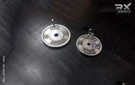 Спортивные снаряды в серебре. Блины от штанги 25 и 15кг. CrossFit сувениры. #RXj #RX_Jewelry