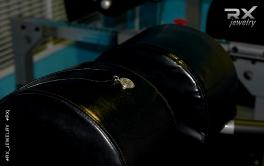 Подвеска диск штанги. Копии спортивных снарядов в виде серебряных украшений. #RXj #RX_Jewelry