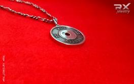 Блин от штанги из серебра. КросФит символика. #RXj #RX_Jewelry