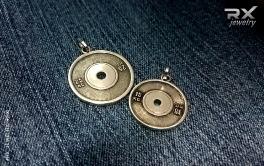 Серебряные кулоны блины от штанги. Спортивные ювелирные изделия. #RXj #RX_Jewelry