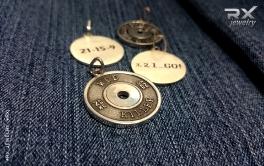 Спортивные украшения. Подвески, кулоны и медальоны из серебра с родиевым покрытием. #RXj #RX_Jewelry