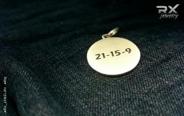 Кулон спортивный. Серебряный Веселый CrossFit Rodger. 21-15-9. #RX_Jewelry #RXj