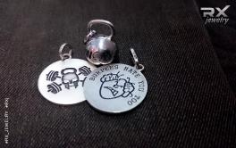 Украшения в виде спортивных снарядов и медальоны из серебра.  #RX_Jewelry #RXj