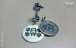 Ювелирные украшения из серебра для поклонников CrossFit - движения. #RXj