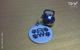 Кулон в подарок спортсмену Jolly Rodger и серебряная гиря WOD.  #RX_Jewelryj