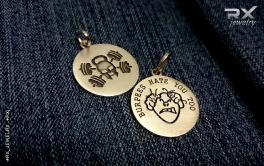 Спортивные кулоны для CrossFit атлетов серебряные. КросФит Rodger и Ненавижу Бурпи. #RX_Jewelry #RXj