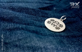 Кулоны для спортсменов серебряные. Медаль Jolly Rodger двухсторонняя. #RXj