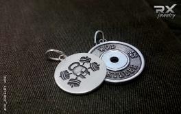 Фитнес подарки. Спортивные ювелирные украшения. Серебро 925 пробы. Родий.  #RX_Jewelry #RXj