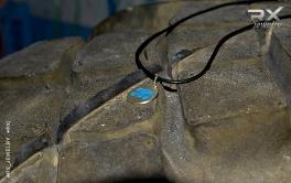 CrossFit символ - Веселый Роджер. Серебро 925. Родий. Кожаный шнурок. #RX_Jewelry #RXj