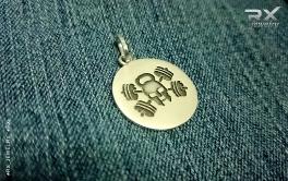 Украшение медальон сеоебряный. Оригинальный фитнес падарок. #RX_Jewelry #RXj