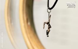 Кулон подвеска Pole Dance. Шестовая акробатика в серебре. #RX_Jewelry #RXj